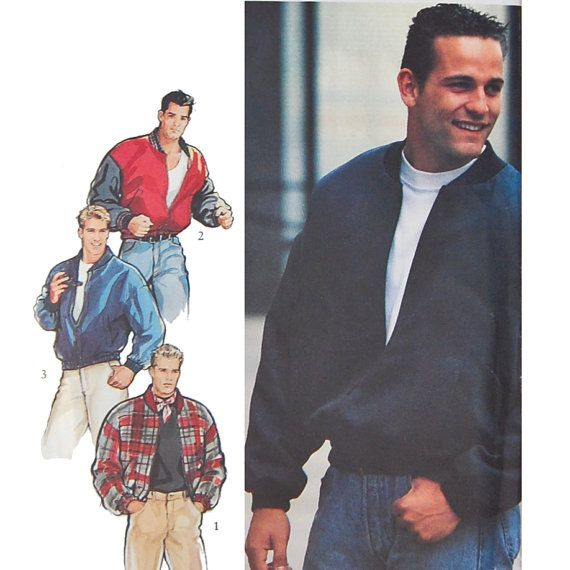 Men's Bomber Jacket Sewing Patterns - Chest 36 to 44 Style 2215 ...