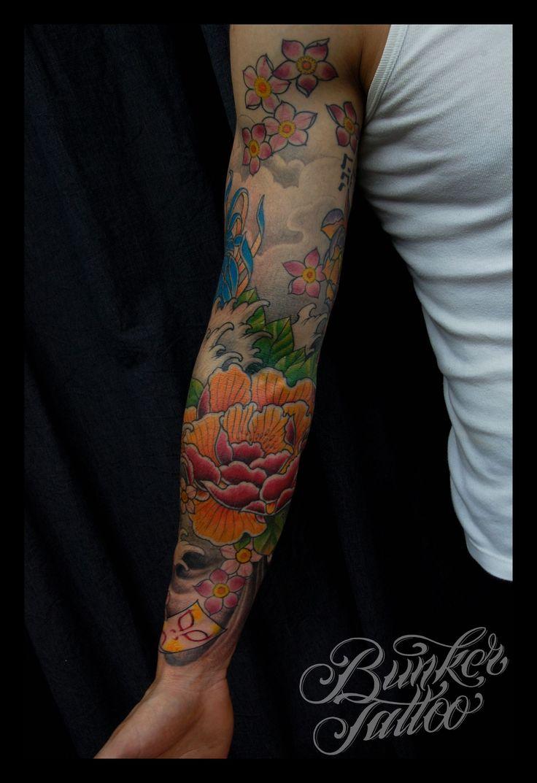 Japanese calf tattoos by durb - Japanese Sleeve