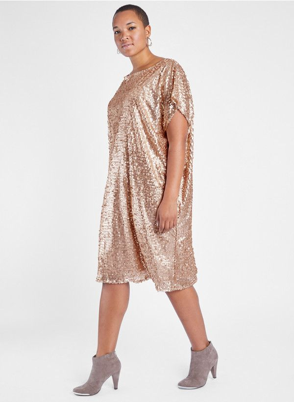 ed208b75462 Anna Scholz Plus Size Sequin Tunic Dress - Plus Size Party Dress - Plus  Size Fashion for Women #plussize