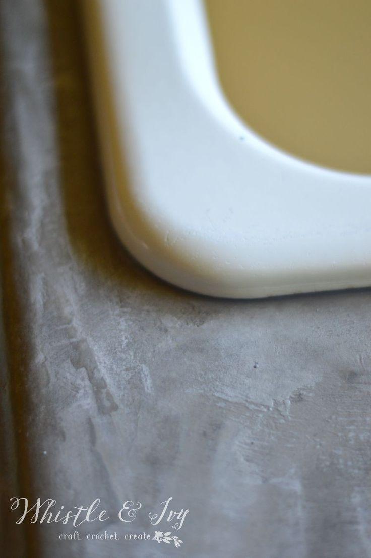 Thinset Concrete Countertops 17 Migliori Idee Su Concrete Countertops Over Laminate Su Pinterest