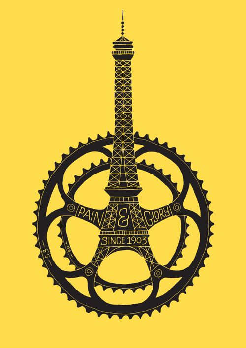 Le Tour de France 100th Anniversary Poster | Dave Foster http://bicyclestore.tumblr.com/page/2