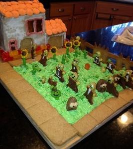 plants vs gingerbread zombies