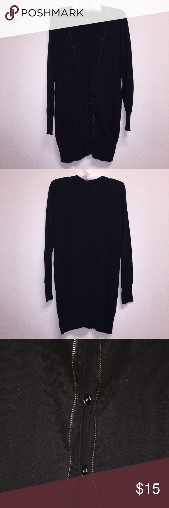 """A.N.A Black Cardigan Size M, item in good condition with no major flaws to note. Color is black. Armpit: 20"""". Length: 31"""". Feel free to ask any questions, no trades or model photos sorry. Offers thru offer button only. Items ship same day M-F if purchased before 2pm PST! a.n.a Sweaters Cardigans"""