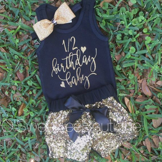 Its my 1/2 Birthday Onesie/ Half Birthday by oSweetTEEBoutique