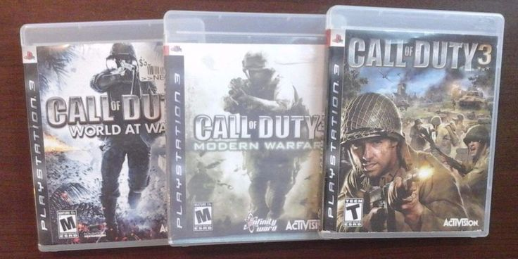 Lot of 3 Call of Duty Playstation 3 PS3 Games World of War Modern Warfare