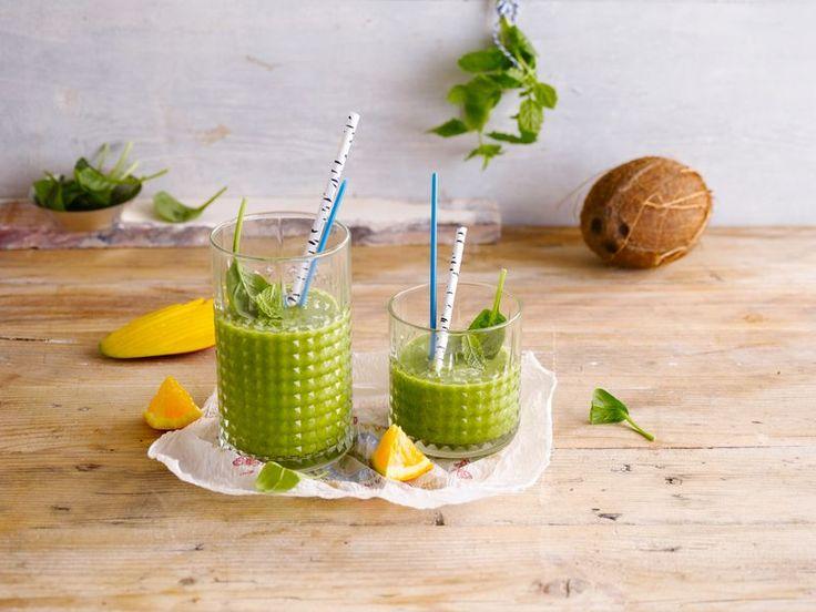 Alpro - Groene smoothie met kokosnoot - Een heerlijke smoothie met Alpro Kokosnootdrink