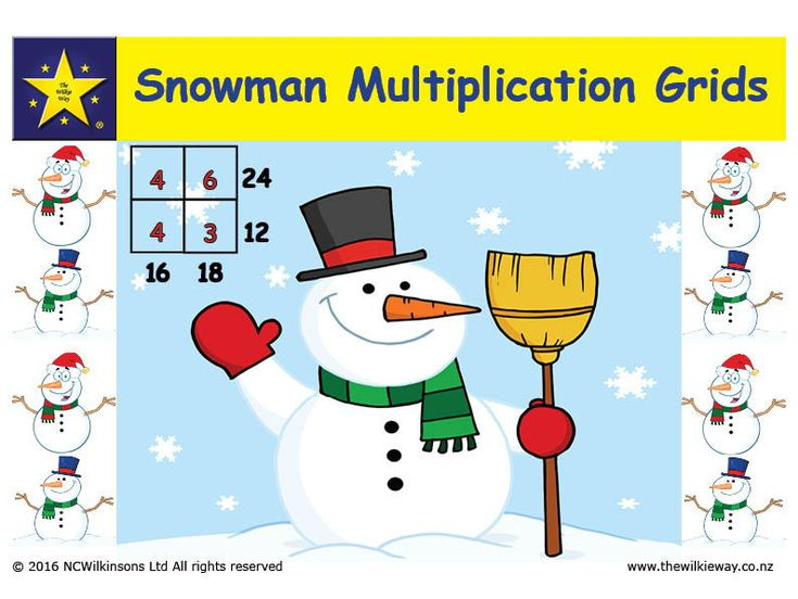 Snowman Multiplication
