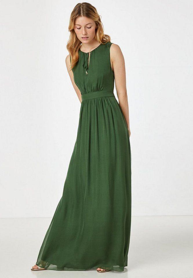 hallhuber wickelkleid grün gold