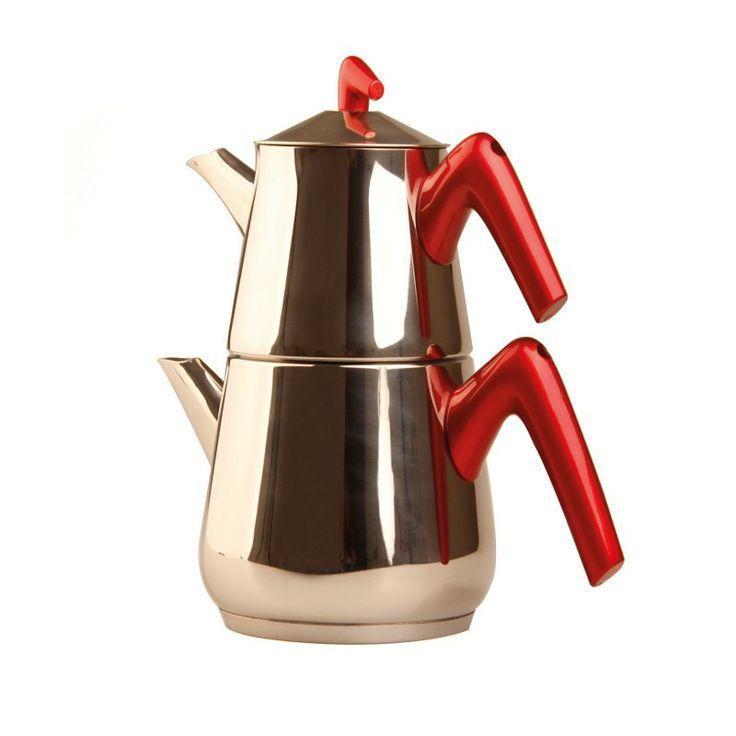 Cookplus Piramit çaydanlık Takımı Kırmızı