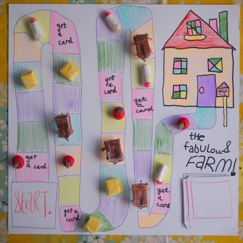 Perfect as the weather starts to change! Make Your Own Board Game