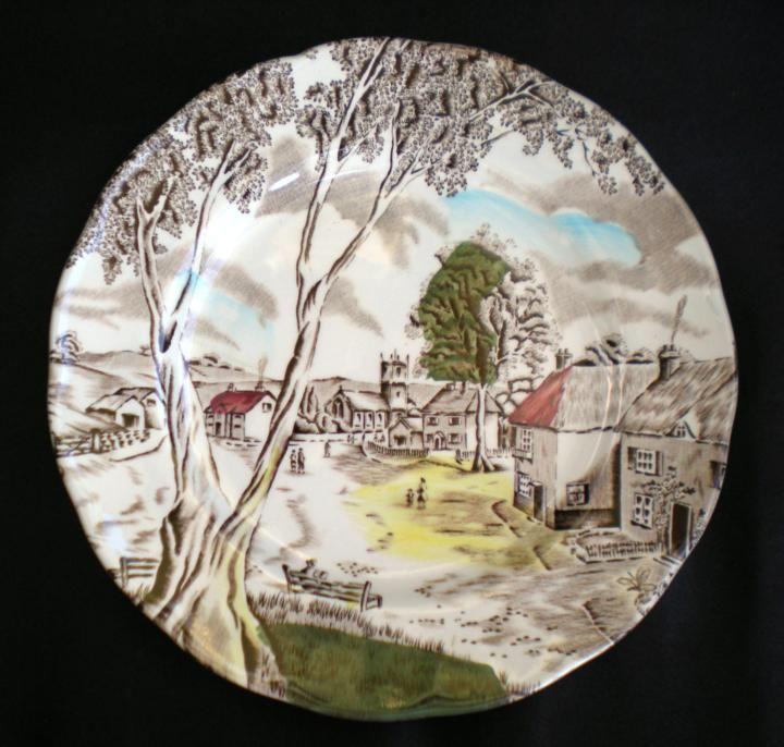 Ozdobny talerzyk / spodek z Anglii