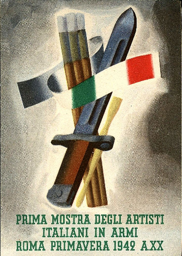 First exhibition of Italian artists in Rome - Weapons - Spring 1942