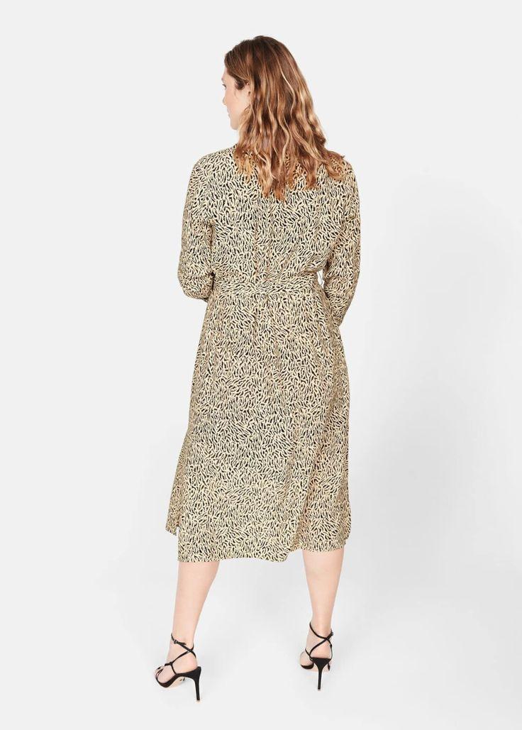 VIOLETA By Mango Kleid 'Leopard' Damen, Beige, Größe 38 ...