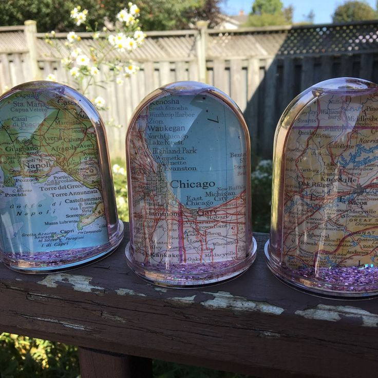 Brand new design- double sided custom map glitter dome. Makes a great gift!