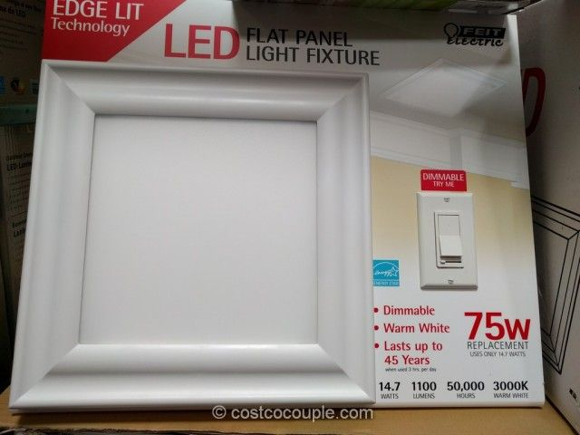 40 Each Feit Electric Led Flat Panel Light Fixture Costco Basement Basements Finished And Lights