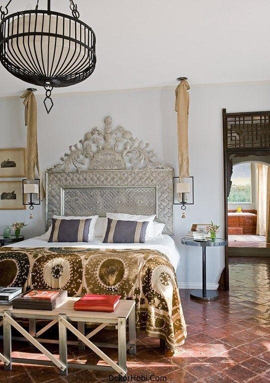 refined boho chic bedroom design