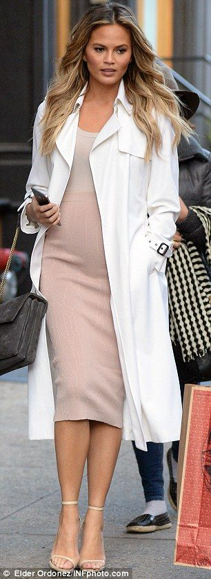 Things that go bump in the afternoon: Chrissy was spotted showing off her curves in New York on Friday