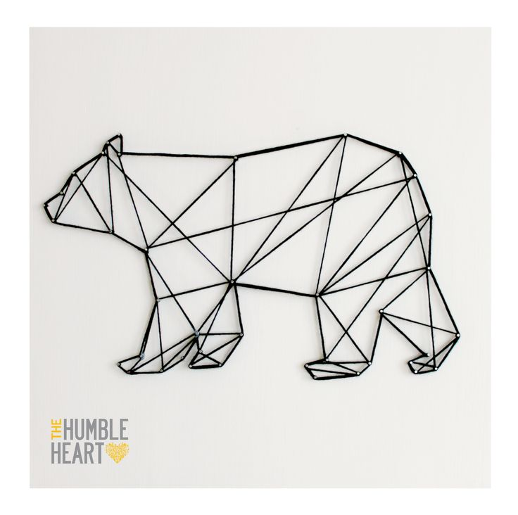 Drawing With Lines And Shapes : Best geometric bear ideas on pinterest