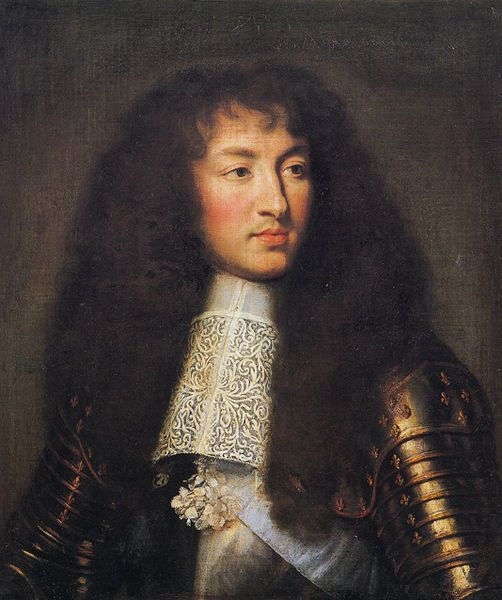 King Louis Xiv - that is some awesome buttrock hair right there!