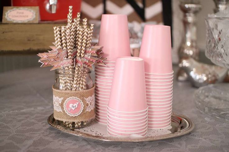 Shabby Chic, Vintage Glam Bridal/Wedding Shower Party Ideas
