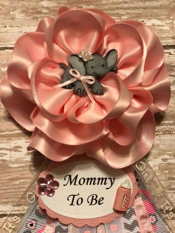 Elephant Mommy To Be Corsage Baby Shower Elephant Theme