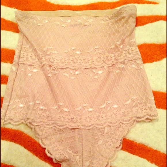Beige Lace Skinny Girl Spanx Underwear thing new Beige Lace Skinny Girl Spanx Underwear thing new never worn but tag removed size XL skinny girl solutions Skinnygirl Intimates & Sleepwear Panties