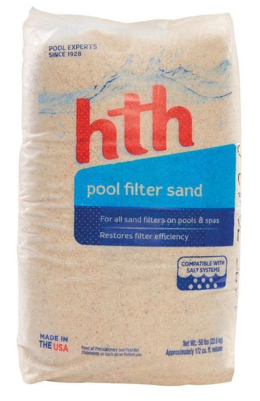 HTH 67074 Aqua Quartz Pool Filter Sand, 50-Lbs