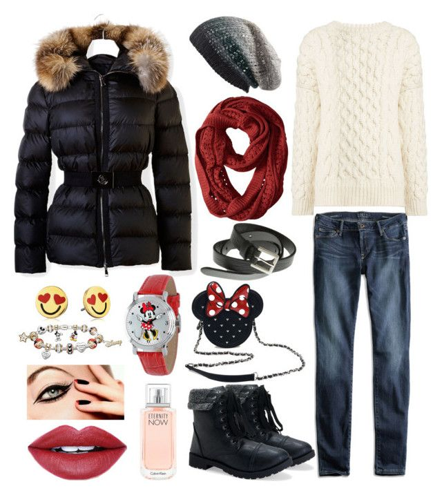 """""""Mikki Mouse winter outfit"""" by inna-karpova on Polyvore featuring мода, Aéropostale, Moncler, Lucky Brand, Joseph, Michael Stars, Loungefly, Smartwool, Kate Spade и Fiebiger"""