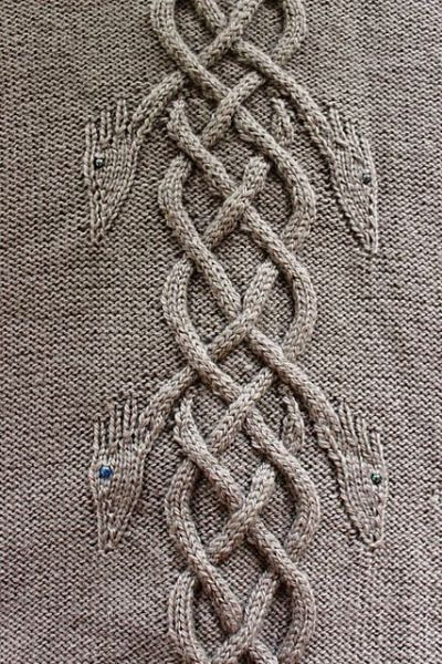 "hiddenmeadowcrochet: "" knittingfornerds: "" Dancing Dragons Coat pattern by Heike…"