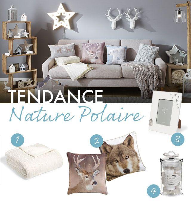 Tendance nature polaire planche d 39 inspiration objets for Decoration salon argente