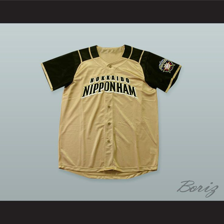 Kohei Arihara 16 Hokkaido Nippon-Ham Fighters Button Down Tan Baseball Jersey with Patch. STITCH SEWN GRAPHICS AND EMBROIDERED PATCH CUSTOM BACK NAME CUSTOM BACK NUMBER ALL SIZES AVAILABLE SHIPPING TIME 3-5 WEEKS WITH ONLINE TRACKING NUMBER Be sure to compare your measurements with a jersey that already fits you. Please consider ordering a larger size, if you prefer a loose fit.  HOW TO CALCULATE CHEST SIZE: Width of your Chest plus Width of your Back plus 4 to 6 inches to account for space…