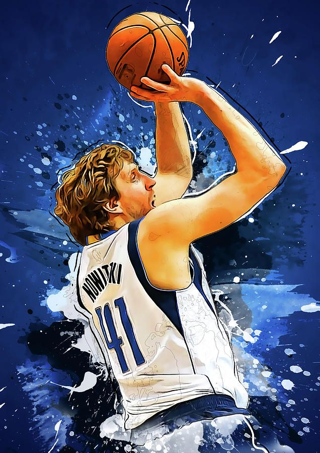 Dirk Nowitzki By Smh Yrdbk In 2020 Dirk Nowitzki Nba Artwork Nba Basketball Art