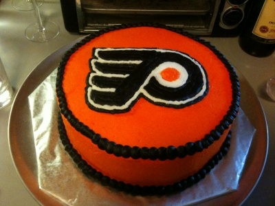 Philadelphia Flyers Hockey Cake By feathers212 on CakeCentral.com