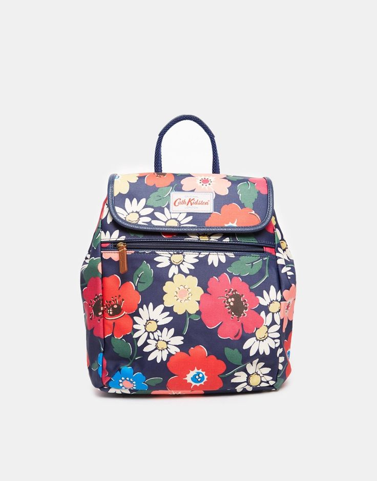Image 1 ofCath Kidston Mini Backpack in Navy Floral