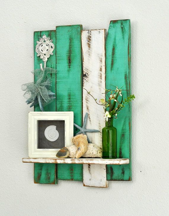 Hey, I found this really awesome Etsy listing at https://www.etsy.com/listing/169910444/shelf-reclaimed-pallet-decorative-hook