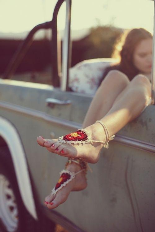 Hippie Bead's...memorie's ;-)  (Lots of crochet & macramé back then-sandals, dresses, swimsuits, vests, jewelry......)