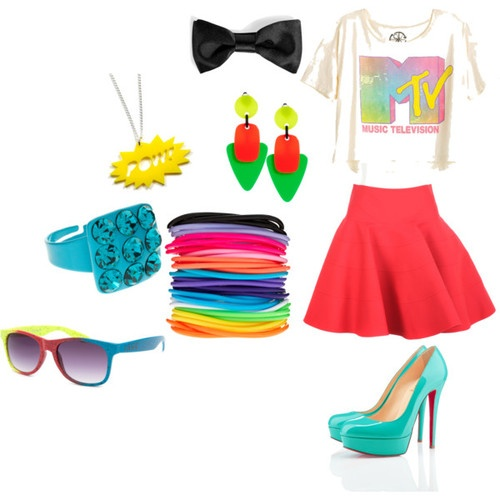Would totally rock this at an 80's party #totallyawesome
