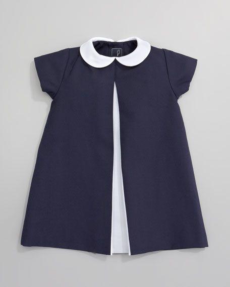 Pique A-line Pleated Dress