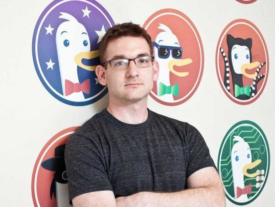 Pretty cool.  DuckDuckGo CEO gabriel weinberg