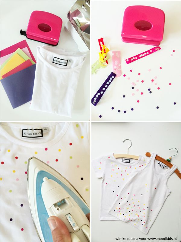 how to confetti shirt diy
