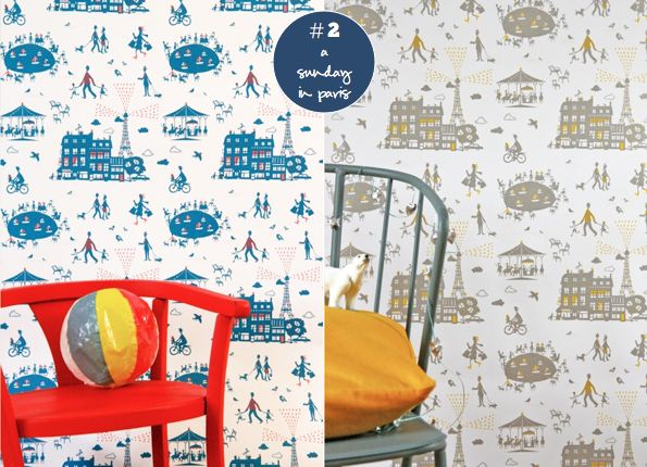 most darling wallpaper.  Perfect for playroom/gender neutral bedroom.