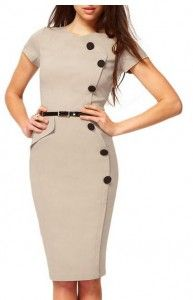 MIUSOL® WOMEN'S VINTAGE CAP SLEEVES BUSINESS BODYCON DRESS