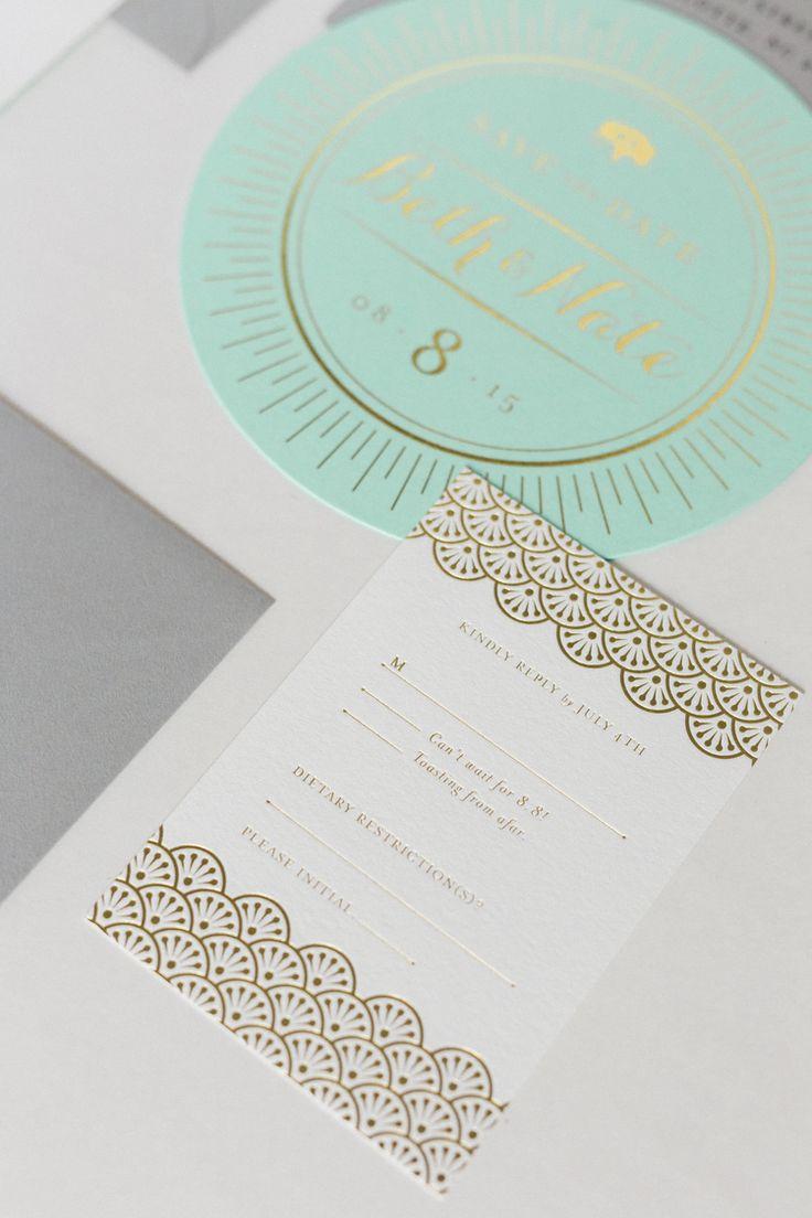 wedding invitations atlanta%0A Gold Foil Wedding Invitations   Wedding Stationery Trends   Mia Maria  Design   Elle Golden Photography