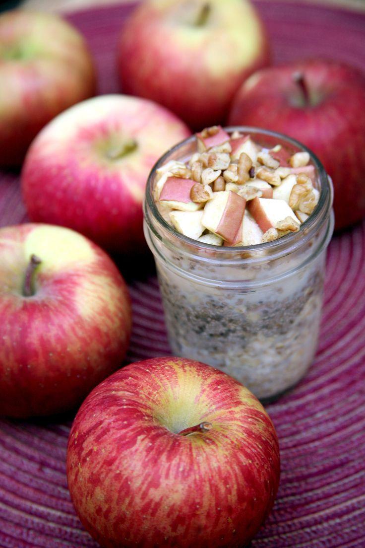 Apple Pie Overnight Oats   POPSUGAR Fitness
