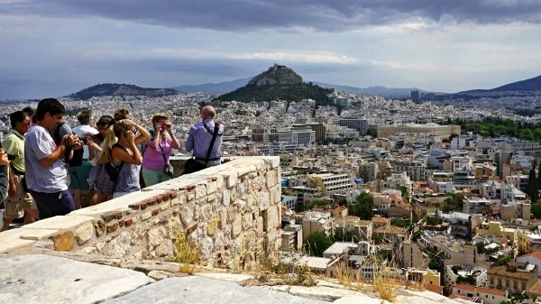 Photo stop, on top of the Acropolis Hill