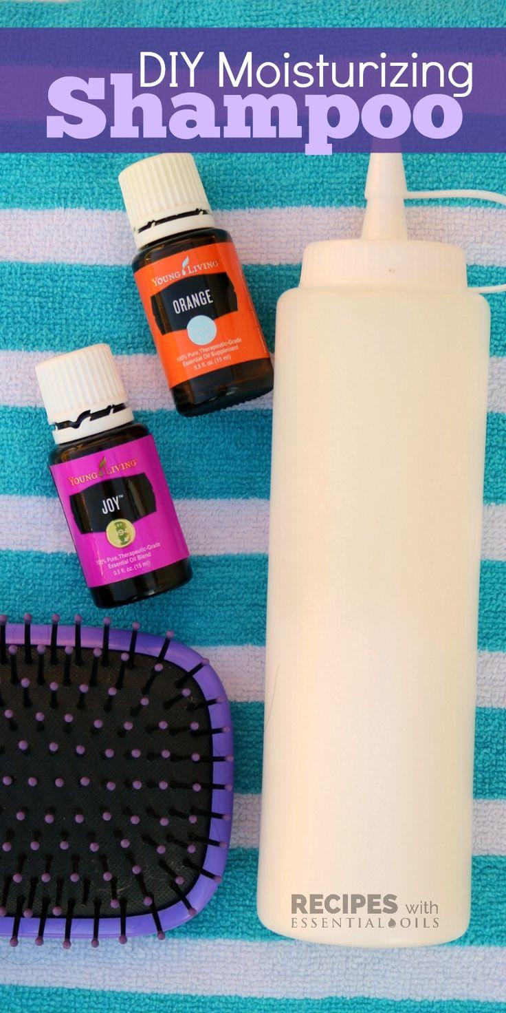 DIY Moisturizing Shampoo Recipe from RecipeswithEssentialOils.com
