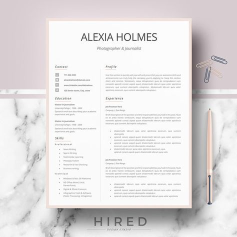 19 best Minimalist Resume \/ CV Templates images on Pinterest - microsoft office resume templates for mac