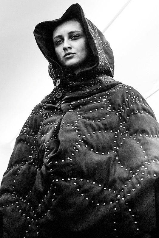Sculptural Fashion - hooded cocoon coat with voluminous silhouette // Noir Kei Ninomiya Fall 2015