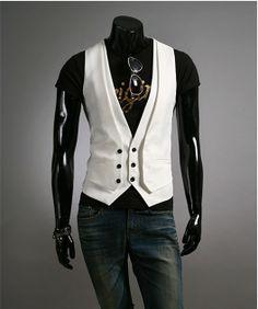 Free Printable Men's Vest Patterns   ... Stylish Slim Fit Pattern Spring Autumn Vest Waistcoats For Men Coat