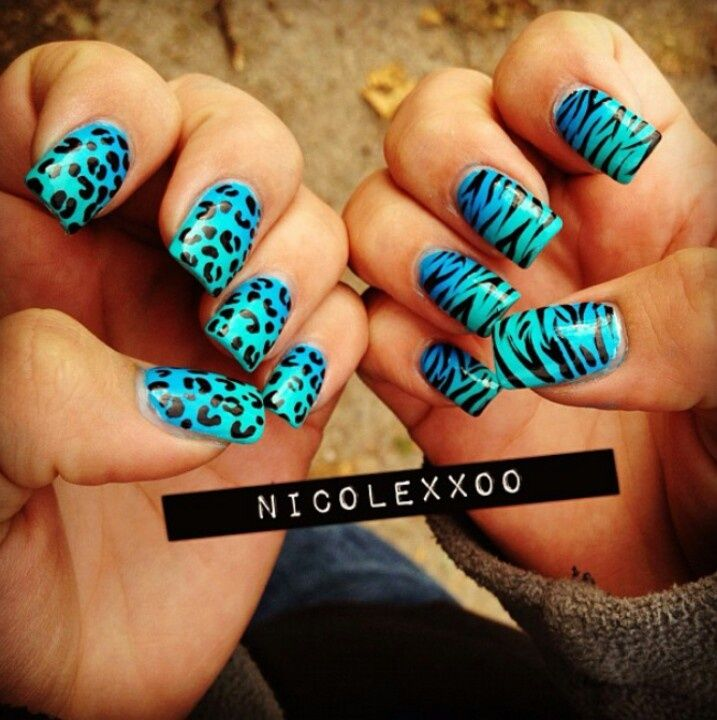 zebra and cheetah nail designs leopards maquillaje y